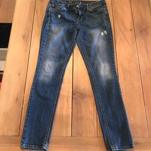 Jeans - Lightly distressed mossimo Skinny Jeans 10R